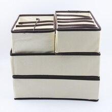 4PCS Lagerung Box Multi größe Unterwäsche Bh Lagerung Box Schublade Schrank Lagerung Box Unterwäsche Schal Socken Bh Hause lagerung Box