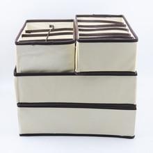 4PCS Storage Box Multi size Underwear Bra Storage Box Drawer Closet Storage Box Underwear Scarf Socks Bra Home Storage Box