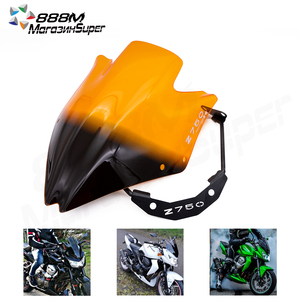 Motorbike Windscreens Wind Deflectors Windshield Fit For Kawasaki Z750 Z750R Z750 2007 2008 2009 2010 2011 2012