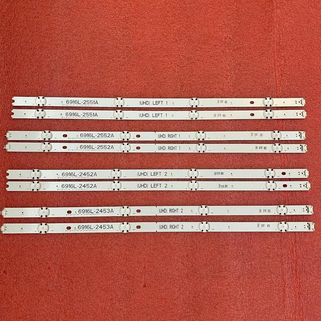 Светодиодная лента для подсветки для LG 49UH6500 49UH650V 49UH661V 49UH668V LC490DGG FJ M6 M5 6916L 2452A 2453A 6916L 2551A 2552A