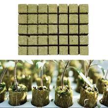 """50 шт grow plug a pack Grodan """" Starter Cubes plugs-hydroponic rockwool grow media. Распространение клонирования из минеральной ваты кубики"""