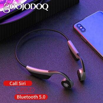 GOOJODOQ Sports Bluetooth earphone Bone Conduction Wireless Headsets Sport Earbuds IPX5 Waterproof Headset Wireless Headphones