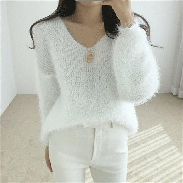 Ailegogo New 2019 Autumn Winter Women's Sweaters Loose Casual Fashionable Minimalist Tops Korean Style Knitting Ladies SW9160 3
