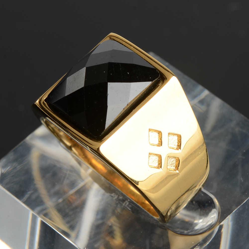 จริงใหม่สแตนเลสสตีลสีแดงแหวนสำหรับผู้ชายผู้หญิง God of Gambling โชคดี Signet แหวน Anel anillos Anelli