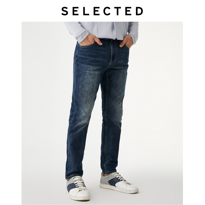 SELECTED Men's Sanding Cotton Jeans Autumn Denim Pants R|419332537