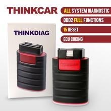 Thinkcar ThinkDiag tam OBD2 tüm sistem teşhis aracı 15 sıfırlama servis aktüatör Test ECU kodlama araba kod okuyucu tarayıcı
