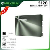 MAXSUN-disco duro interno SATA SSD de 2,5 pulgadas, 512 GB, y de escritorio para ordenador portátil, 520 MB/s, SATA 1,5/3/6 GB/s