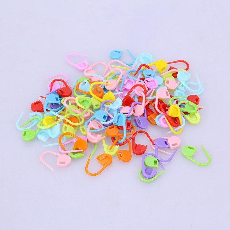 20/50/100pcs/lot Mix Color Plastic Knitting Tools Locking Stitch Markers Crochet Latch Knitting Tools Needle Clip Hook