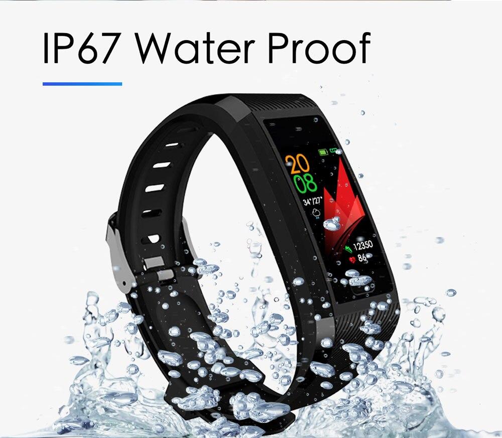 Hedf77ad54d05428ab4f44ded8d5904425 Fitness Bracelet Blood Pressure Measurement Waterproof Smart Band Bracelet Watch Fitness Tracker Heart Rate Activity Tracker