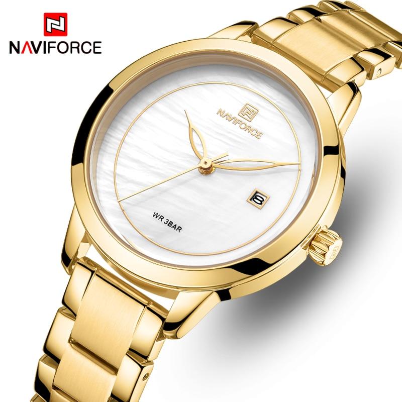 NAVIFORCE Woman Watches Top Brand Luxury Watch Women Waterproof Quartz Women's Wristwatch Ladies Watches Clock Relogio Feminino