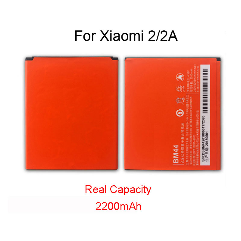 100% <font><b>Original</b></font> BM44 <font><b>Battery</b></font> For <font><b>Xiaomi</b></font> 2A <font><b>Redmi</b></font> <font><b>1S</b></font> <font><b>Redmi</b></font> 2 Recharging <font><b>Batteries</b></font> 2200mAh High Capacity Batterij Accumulator image