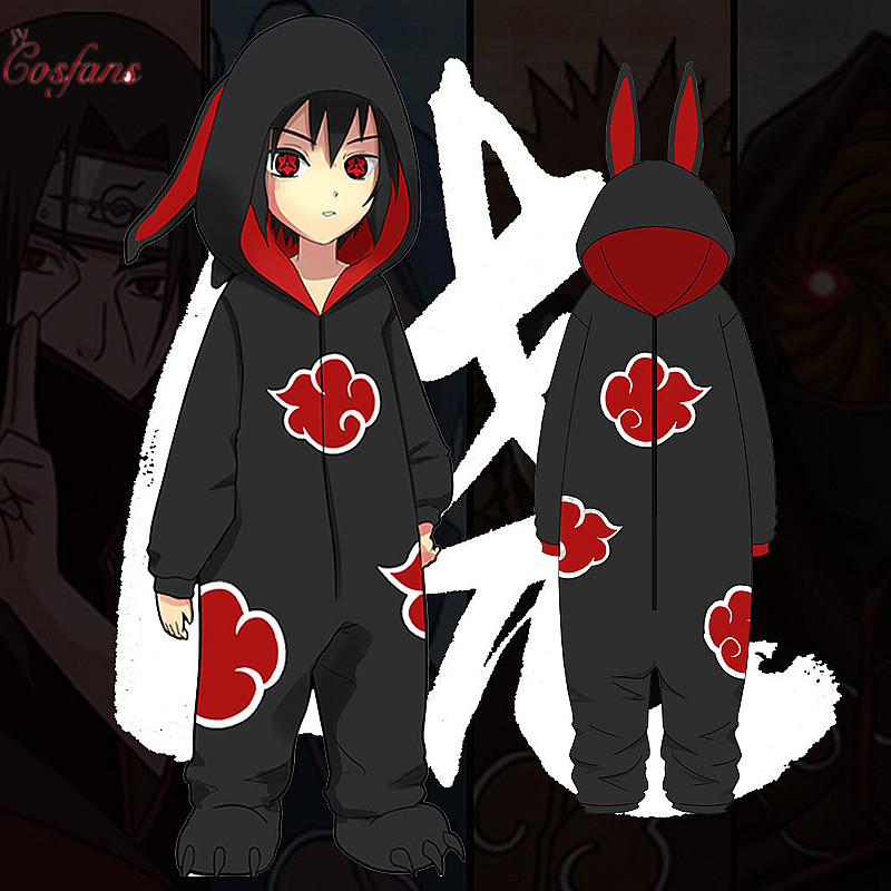 Costumes Women Suits Bathrobe Pajamas Naruto Akatsuki Itachi Cosplay Uchiha Adult Kids title=