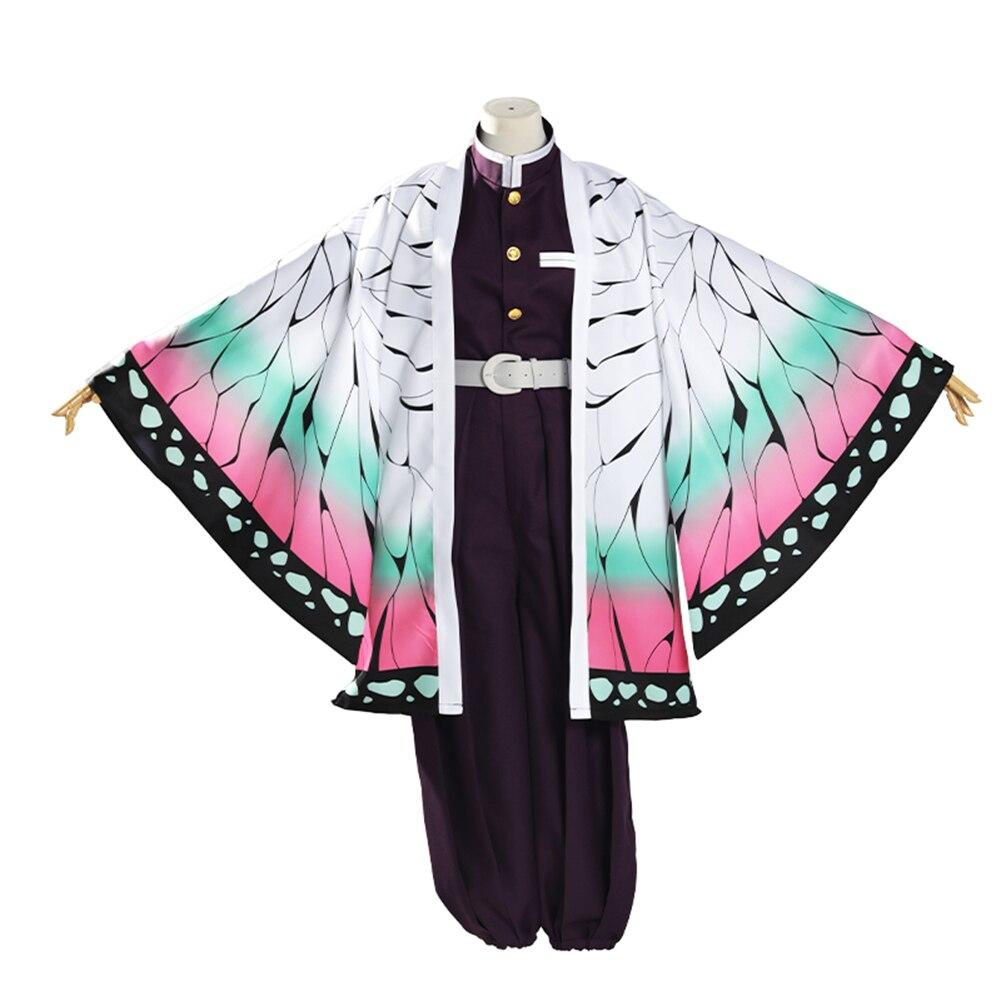 Brdwn Demon Slayer Kimetsu No Yaiba Unisex Kochou Shinobu Cosplay Costume Kimono Suit Haori