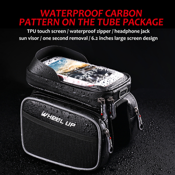 New 6.2 Inch Waterproof TPU Touch Screen Bike Bags MTB Road Bicycle Front Frame Top Tube Bag Cell Phone Bicycle Cycling Bag