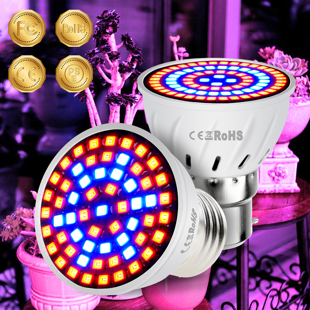 E27 LED Grow Light E14 220V Growth Lamp Fitolamp GU10 Red+Blue+White+UV+IR Bulb Full Spectrum Bombillas For Garden Hydroponics