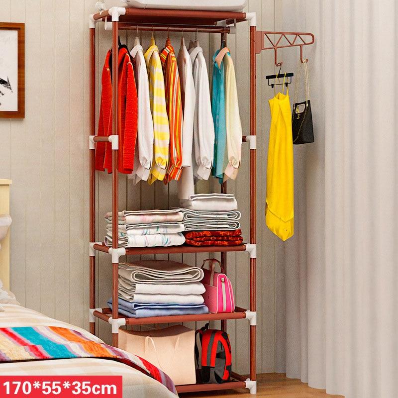 Baffect Simple Metal Iron Coat Rack Floor Standing Clothes Hanging Storage Shelf Clothes Hanger Racks Bedroom Furniture