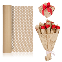 Kraft Paper For Flowers Honeycomb Paper Handmade Decorative Gift Packing Material Birthday Party Household Packaging Paper