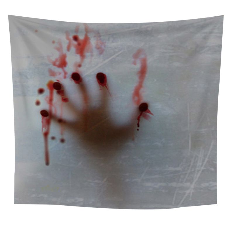 Tapestry Wall Hangings Horror Blood Hand Print Psychedelic Large Size Tapestry
