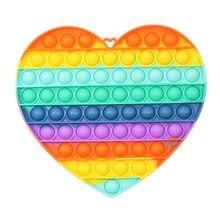 2021 NEUE Pop Fidget Stress Spielzeug Regenbogen Push Es Blase Anti-Stress-Spielzeug Erwachsene Kinder Sensorischen Zu Entlasten Autismus Spielzeug 20CM