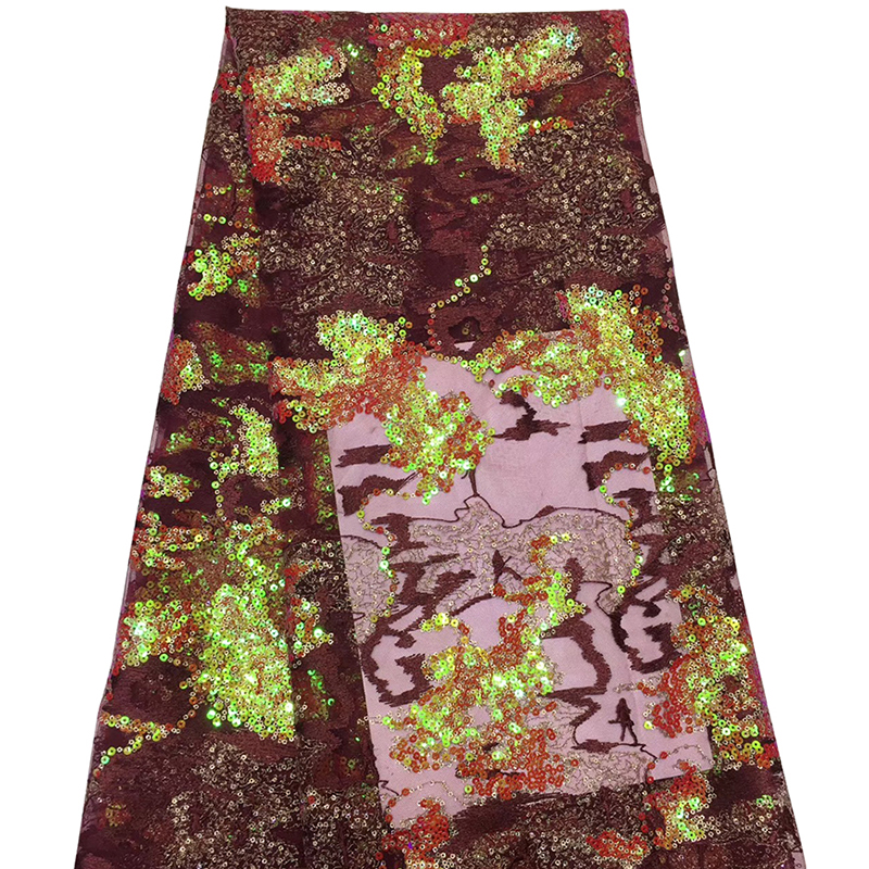 2020 Fashion Beautiful African Lace Fabric Embroidery Nigerian Lace Fabrics High Quality French Lace For Evening Dress