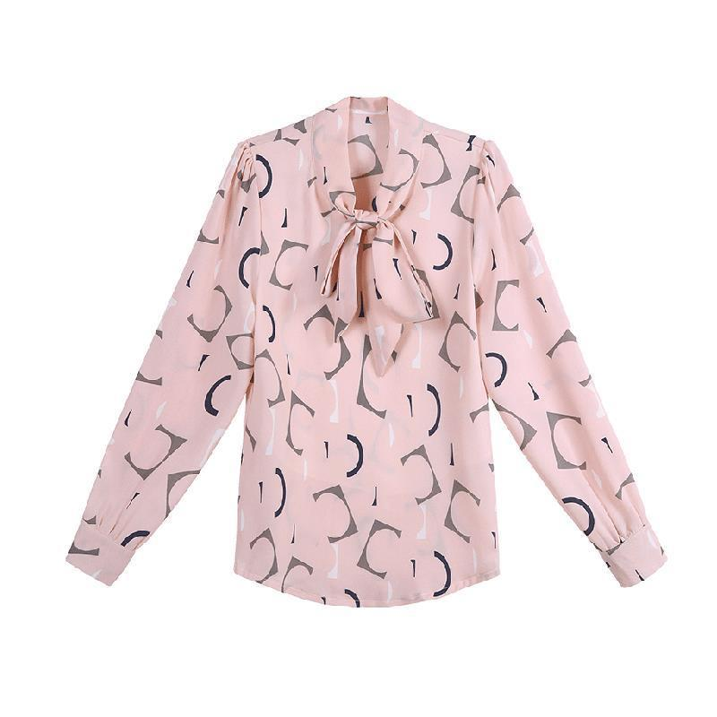 Chiffon Shirt  New Annals Dress In 2020 Foreign Style Fashion Undies Women's Long Sleeve Top Spring And Autumn Blouse Gir 2