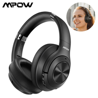 Upgraded Mpow H21 Noise Cancelling Wireless Headphones Bluetooth 5.0 With 40 Hrs Playtime CVC6.0 Mic Deep Bass for Xiaomi iPhone