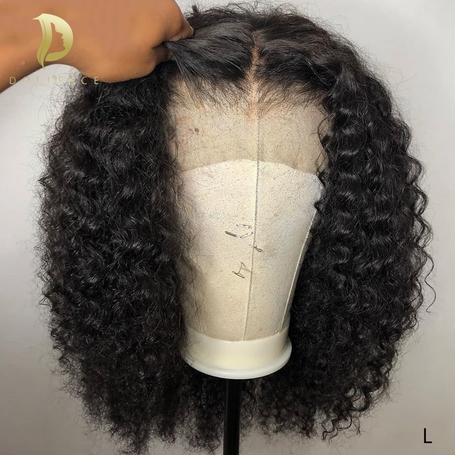 Lace Front Human Hair Wigs For Black Women Afo Kinky Curly Brazilian Short Bob Wig Pre Plucked Remy Natural Swiss Lace Hair