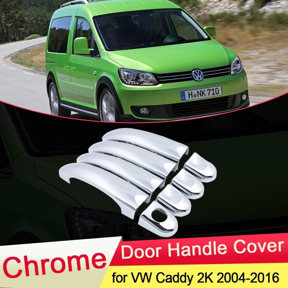 Комплект хромированной крышки ручки двери для Volkswagen VW Caddy 2K 2004 ~ 2016, комплект обшивки автомобильных колпачков, стильные аксессуары 2005 2006 2007 ...