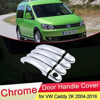 цена на for Volkswagen VW Caddy 2K 2004~2016 Chrome Door Handle Cover Trim Set Car Cap Styling Accessories 2005 2006 2007 2008 2009 2010
