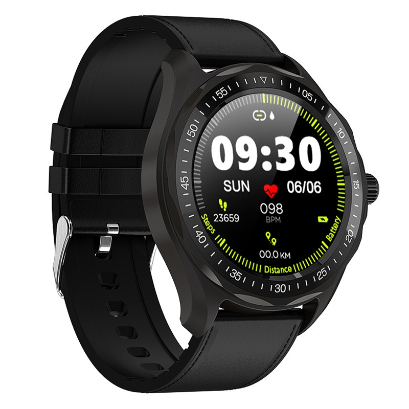 S09 Smart Watch Men Full Round Press Screen IP68 Waterproof Smartwatch Bluetooth Call/SMS Remind Clock for Android IOS