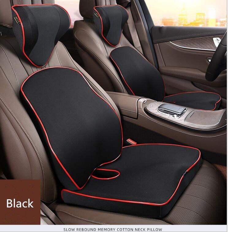 3Pcs/Set Car Seat Supports Pillow Back Lumbar Cushion Headrest Neck Support Memory Foam Lower Back Pain Orthopedics Body Pillow