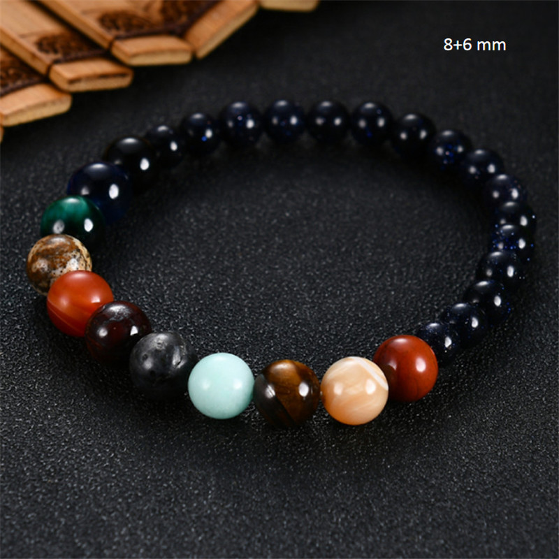 2019 Eight Planets Bead Bracelet Men Natural Stone Universe Yoga Solar Chakra Bracelet for Women Men Jewelry Gifts Drop Shipping 5