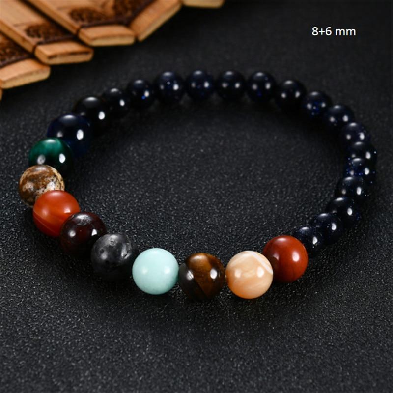 2020 Eight Planets Bead Bracelet Men Natural Stone Universe Yoga Solar Chakra Bracelet for Women Men
