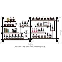 متعدد الطبقات زجاجة حامل أنيق النبيذ المنظم عرض/تخزين كبير ل متذوق الرجعية تصميم الصلبة رف خشبي للنبيذ CF