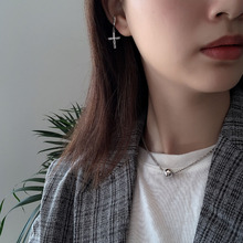 Korean version of fashion simple high quality sterling silver 925 women's silver ball necklace jewelry