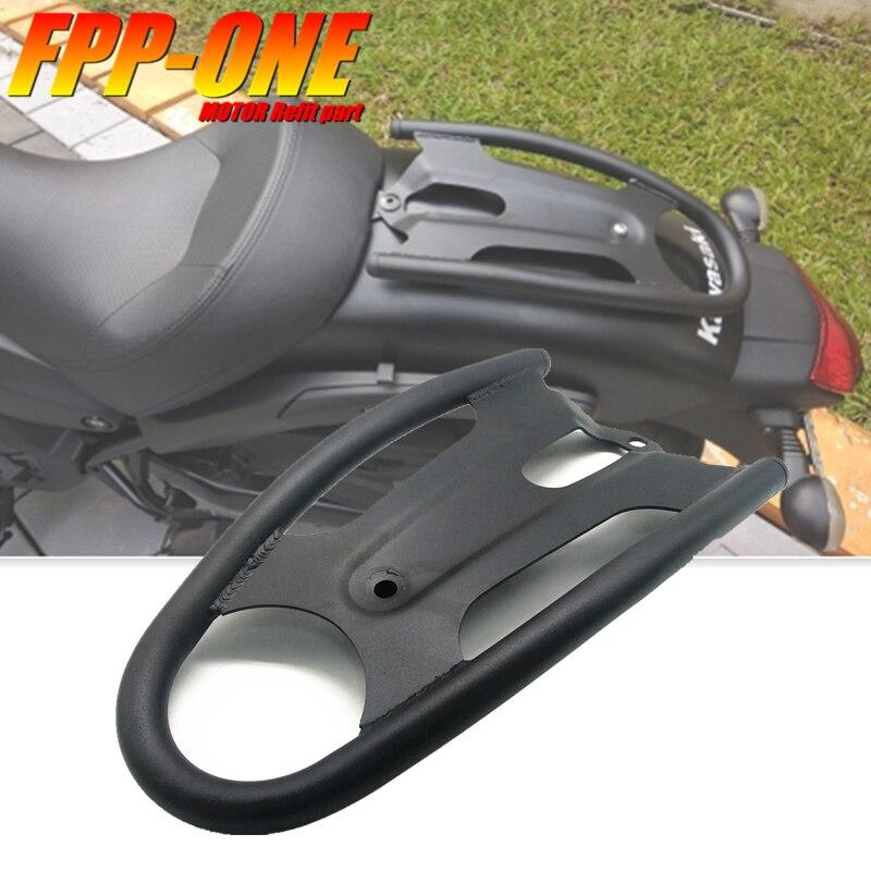 Acessórios da motocicleta rack de bagagem traseiro tailstock prateleiras assento do passageiro almofada para kawasaki vulcan s 650 vn650