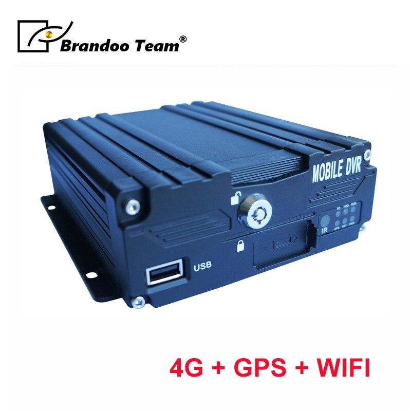Voertuig Taxi Bus Dvr 4 Kanaals 1080P Mobiele Dvr 4CH Auto Dvr H.265 Mdvr Ondersteuning 4G Gps Dual sd-kaart