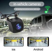 Kamera tylna kamera Hd Wifi tylna kamera samochodowa wsparcie Android i Ios kamera samochodowa kamera cofania HD kamera przednia tylna 12v tanie tanio OUIO CN (pochodzenie) Szkło wireless Pojazd backup kamery Z przodu Tył Z tworzywa sztucznego yes switch by app 1280*720P