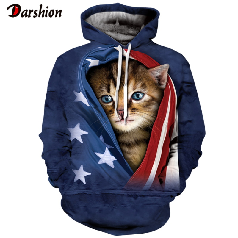 Fashion Brand Men Hoodies Sweatshirts Funny Plus Size XXS-4XL Animals Cats Printed Hoodies For Male Unisex Hot Selling Pullovers