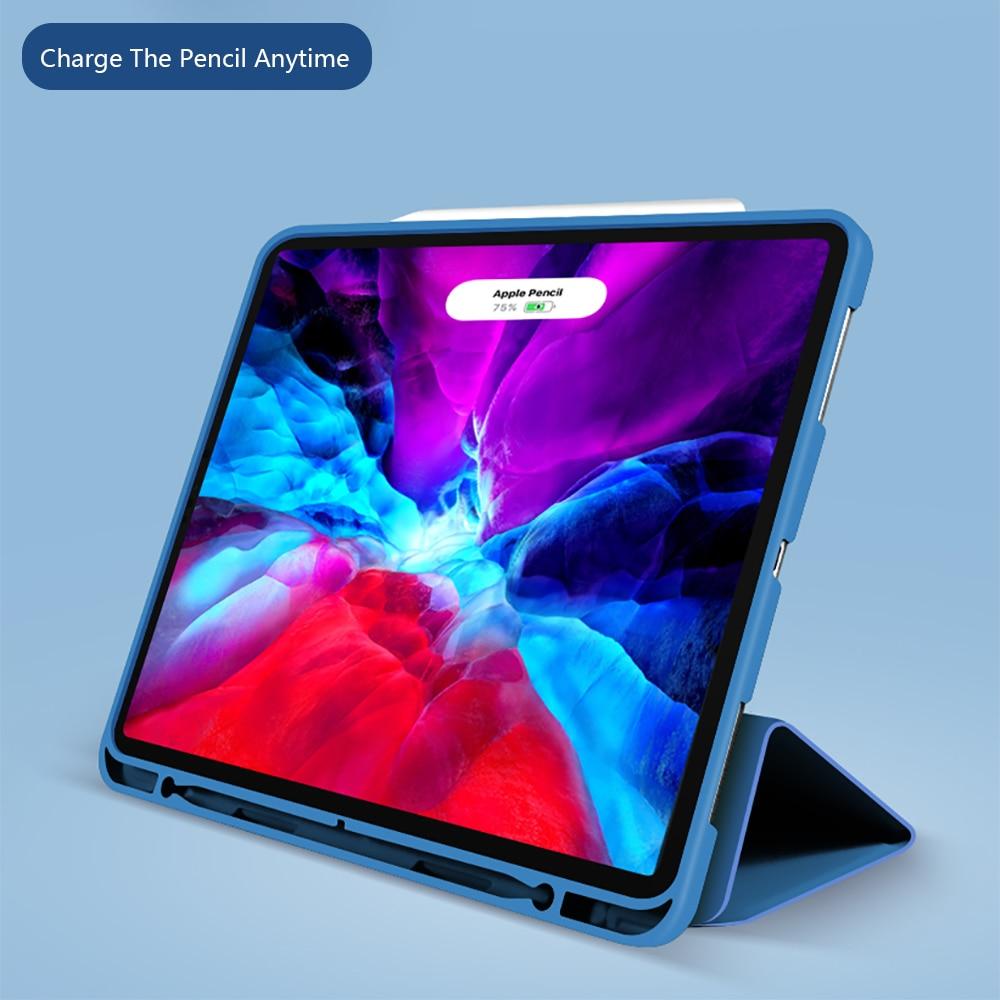 PU Pencil-Holder Silicone Generation-Multi-Fold with Wake-Face-Id iPad Cover Pro For Capa Funda