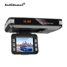 Cámara para grabación de vídeo DVR para coche, Detector de Radar, detección de flujo, cámara de salpicadero, 9V ~ 24V, con ventosa, cargador de coche, compatible con tarjeta TF