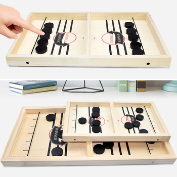 Table Fast Hockey Sling Puck Game Paced Sling Puck Winner Fun Toys Party Game Toys For Adult Child Family Home Board Game
