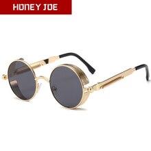 Steampunk Round Sunglasses Vintage Retro Sun Glasses for Men