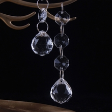 Clear Hanging Acrylic Crystal Christmas Ornament Drop Ball Tree Decorations Deco