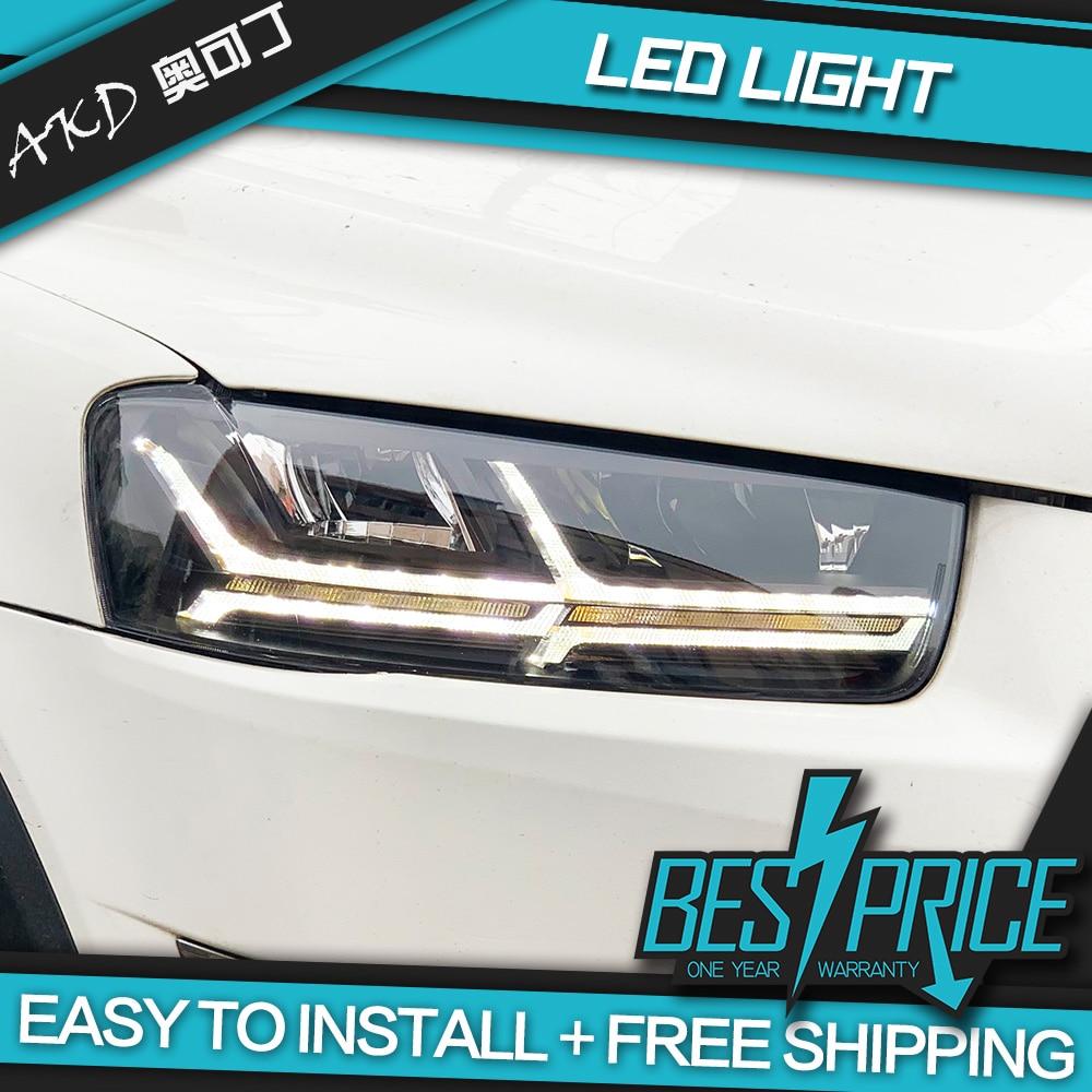 AKD tuning cars Headlight For Chevrolet Holden Captiva 2011 2018 Headlights Audi Q7 type LED DRL Running lights Bi Xenon Beam