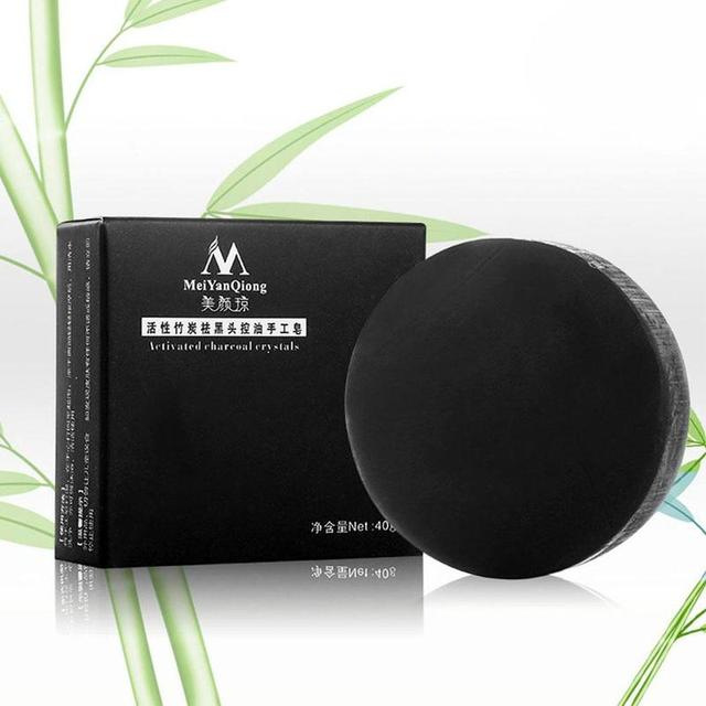 Natural Bamboo Charcoal Soap Clean Whitening Soap Blackhead Remover Acne Treatment Oil Control Soaps Skin Care Treatment 3