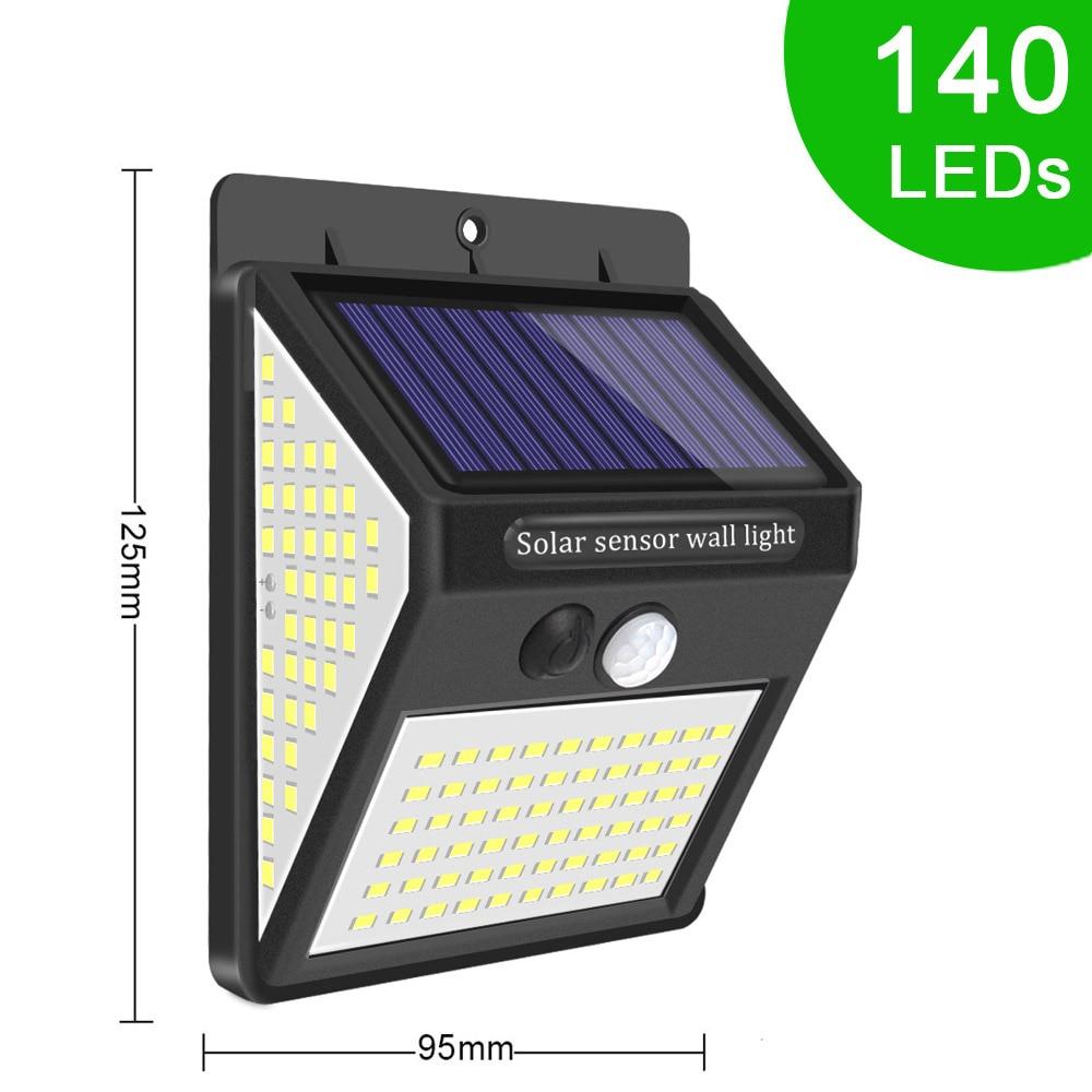 140 LED Night Light Galaxy Projector Wall Lamps Lamp With Motion Sensor Solar Light Outdoor Waterproof Decoration Garden Terrace