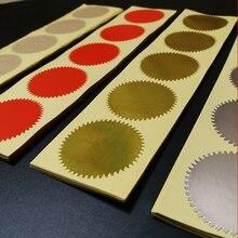 100 шт., серебристые и золотистые наклейки, 45 мм