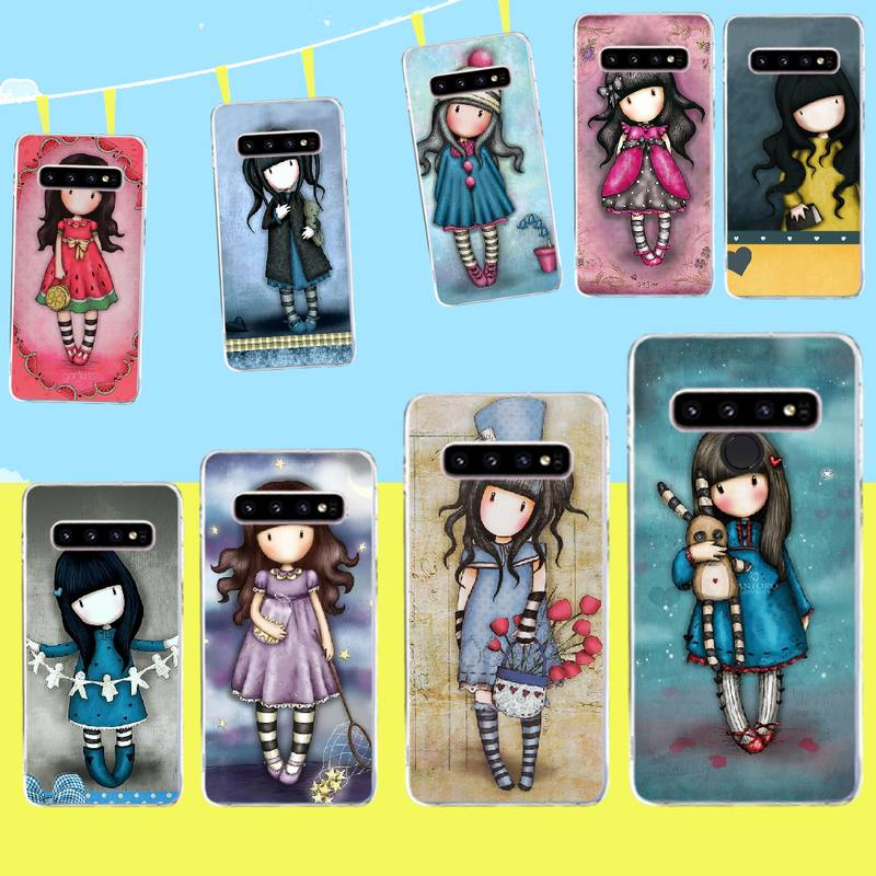 PENGHUWAN Cartoon Lovely Santoro Gorjuss DIY Painted Bling Phone Case for Samsung S9 plus S5 S6 S7 edge S8 S10 plus(China)