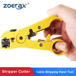 ZoeRax Cutter and Stripper for CAT5 CAT6 Flat or Round STP/UTP Cable Stripping Hand Tool for RG59/6/7/11 Tool